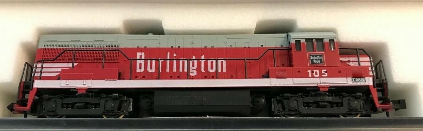 N Scale - Atlas - 4482 - Locomotive, Diesel, GE U25B - Burlington Route - 105