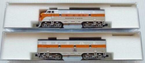 N Scale - Kato USA - 106-0302 - Locomotive, Diesel, EMD F3 - Western Pacific - 801A, 801B