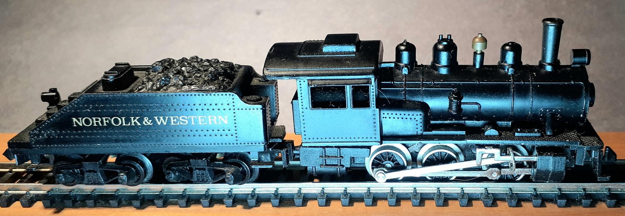 N Scale - Arnold - 0227 - Engine, Steam, 0-6-0 - Norfolk & Western