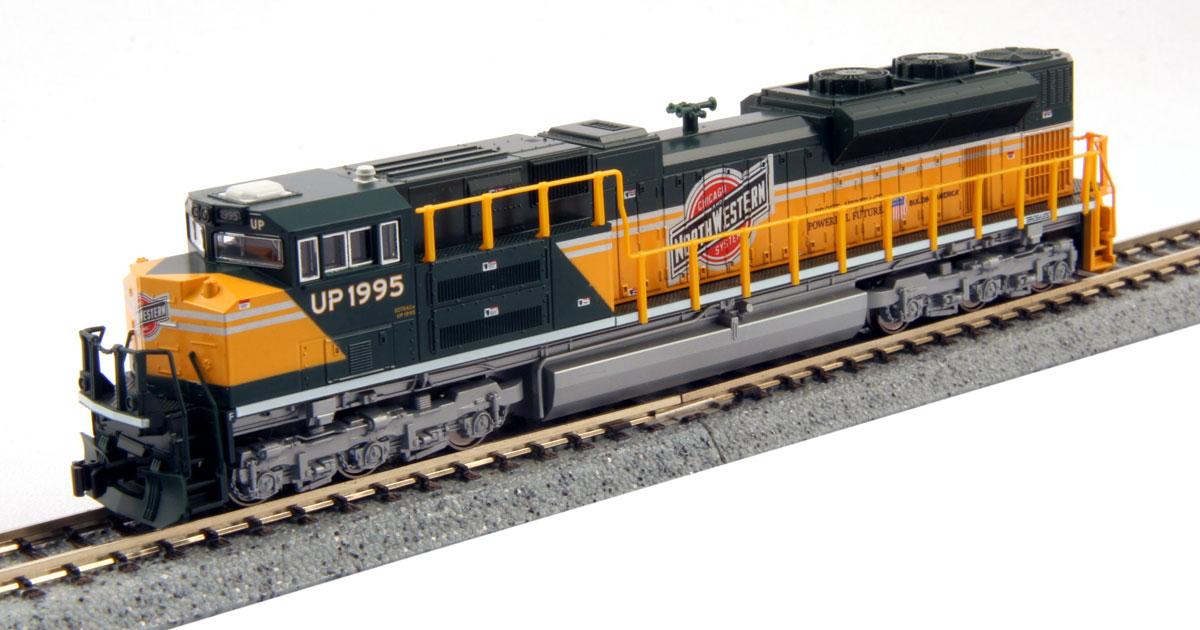 N Scale - Kato USA - 176-8407 - Locomotive, Diesel, EMD SD70 - Chicago & North Western - 1995