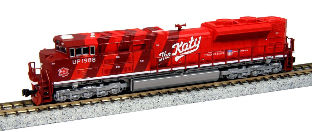 N Scale - Kato USA - 176-8409 - Locomotive, Diesel, EMD SD70 - Missouri-Kansas-Texas - 1988