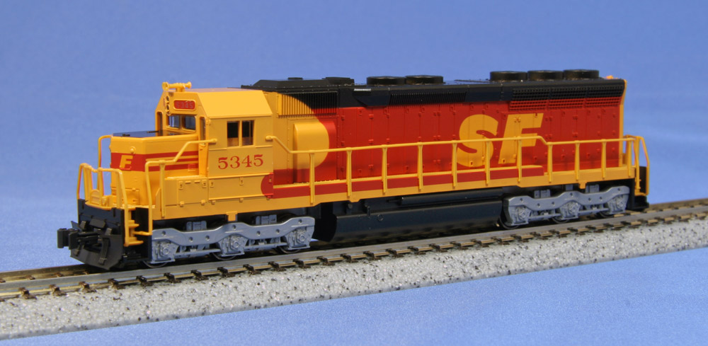N Scale - Kato USA - 176-3121 - Locomotive, Diesel, EMD SD45 - Santa Fe - 5345