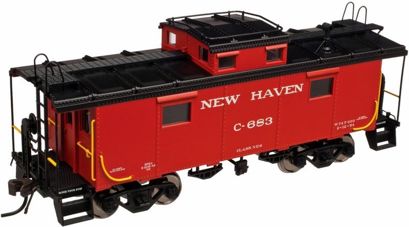 N Scale - Atlas - 50 002 510 - Caboose, Cupola, Steel, NE - New Haven - C-707