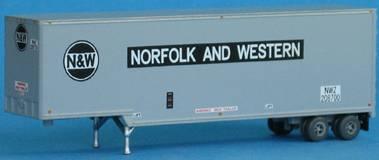 N Scale - Trainworx - 40327-03 - Trailer, 40 Foot, Box - Norfolk & Western - 208736