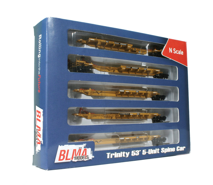 N Scale - BLMA - 12003 - Spine Car, 53 Foot, 5-Unit, Trinity, RAF53C - TTX Company - 555095