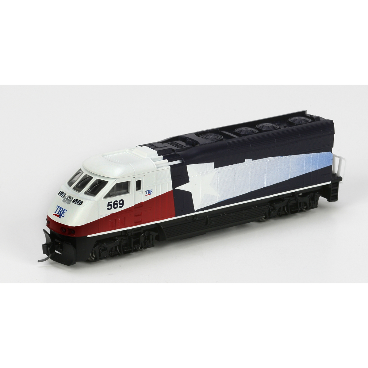 N Scale - Athearn - 10020 - Locomotive, Diesel, EMD F59PHi - Trinity Rail Express - 569