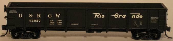 N Scale - Trainworx - 1600 - Gondola, 40 Foot, Steel, Drop Bottom - Undecorated - Undecorated