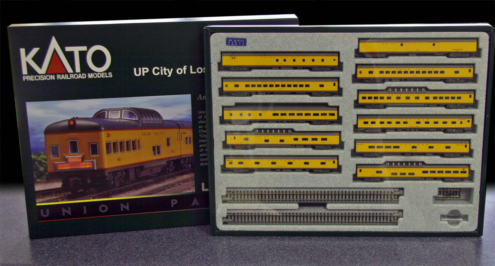 N Scale - Kato USA - 106-080 - City of Los Angeles 11 Car Set - Union Pacific - 11-Pack