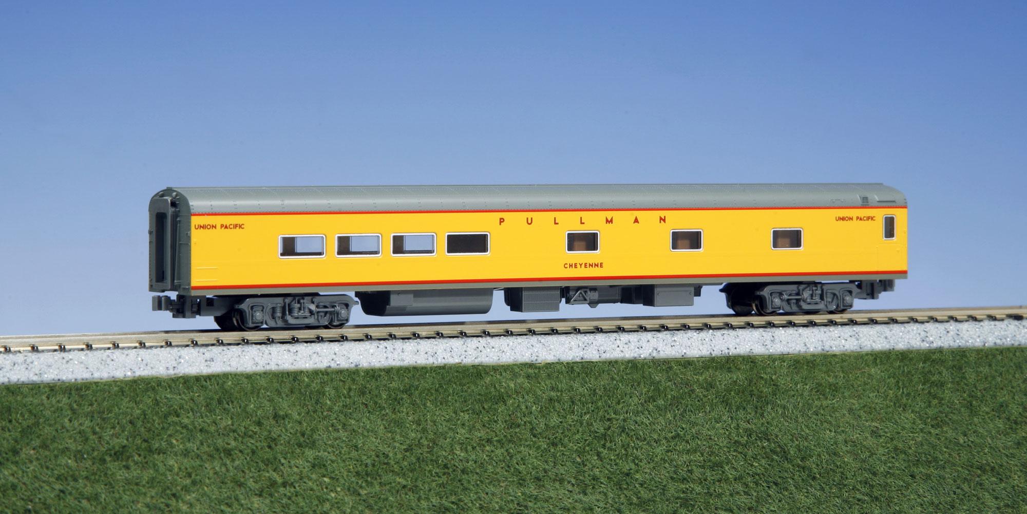 N Scale - Kato USA - 106-080-I - Passenger Car, Lightweight, ACF - Union Pacific - CHEYENNE