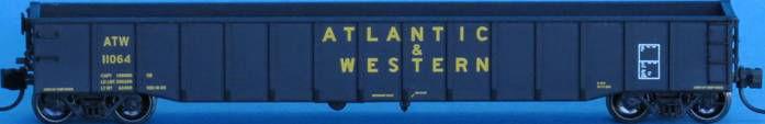 N Scale - Trainworx - 25283-05 - Gondola, 52 Foot, Thrall - Atlantic & Western - 11116