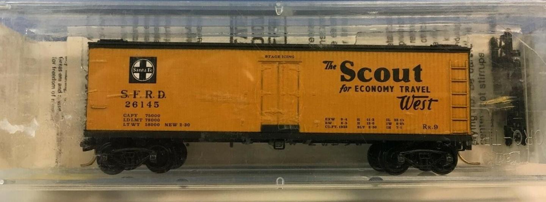 N Scale - Micro-Trains - 47220 - Reefer, Ice, Wood - Santa Fe - 26145