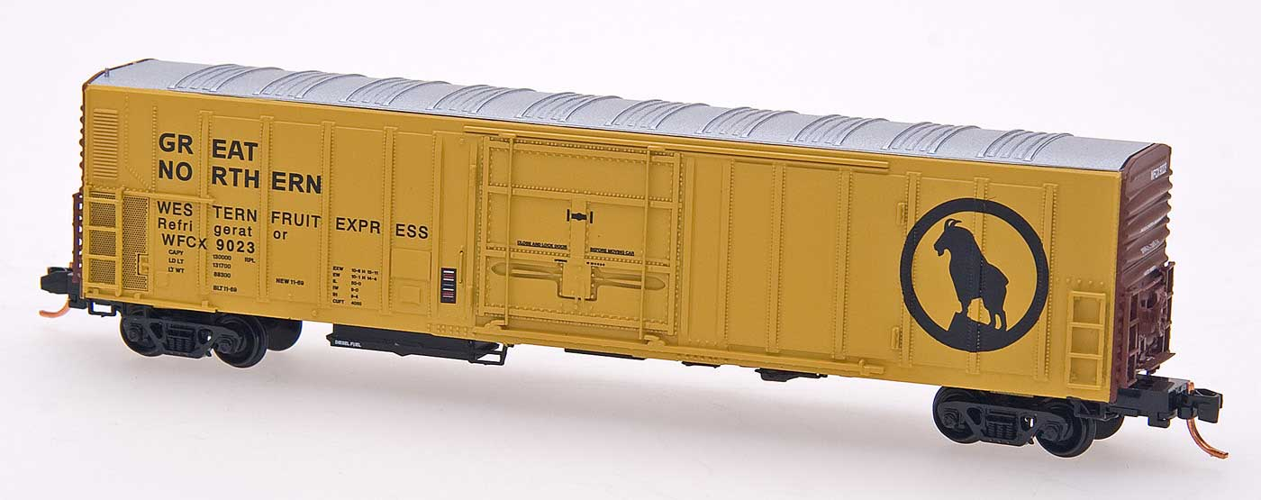 N Scale - InterMountain - 68820-02 - Reefer, 57 Foot, Mechanical, PC&F R-70-20 - Great Northern - 9006