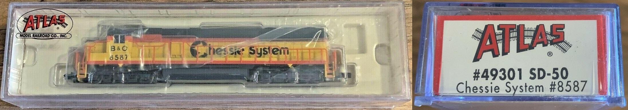 N Scale - Atlas - 49301 - Locomotive, Diesel, EMD SD50 - Chessie System - 8587