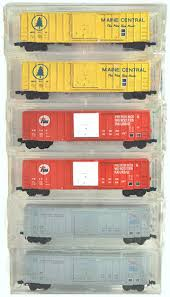 N Scale - Micro-Trains - 25022 - Boxcar, 50 Foot, FMC, 5077 - Various - 6-Pack