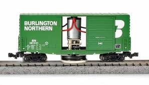 N Scale - MNP - NTC-N002 - Boxcar, 40 Foot, Track Cleaning Car - Burlington Northern - 281441