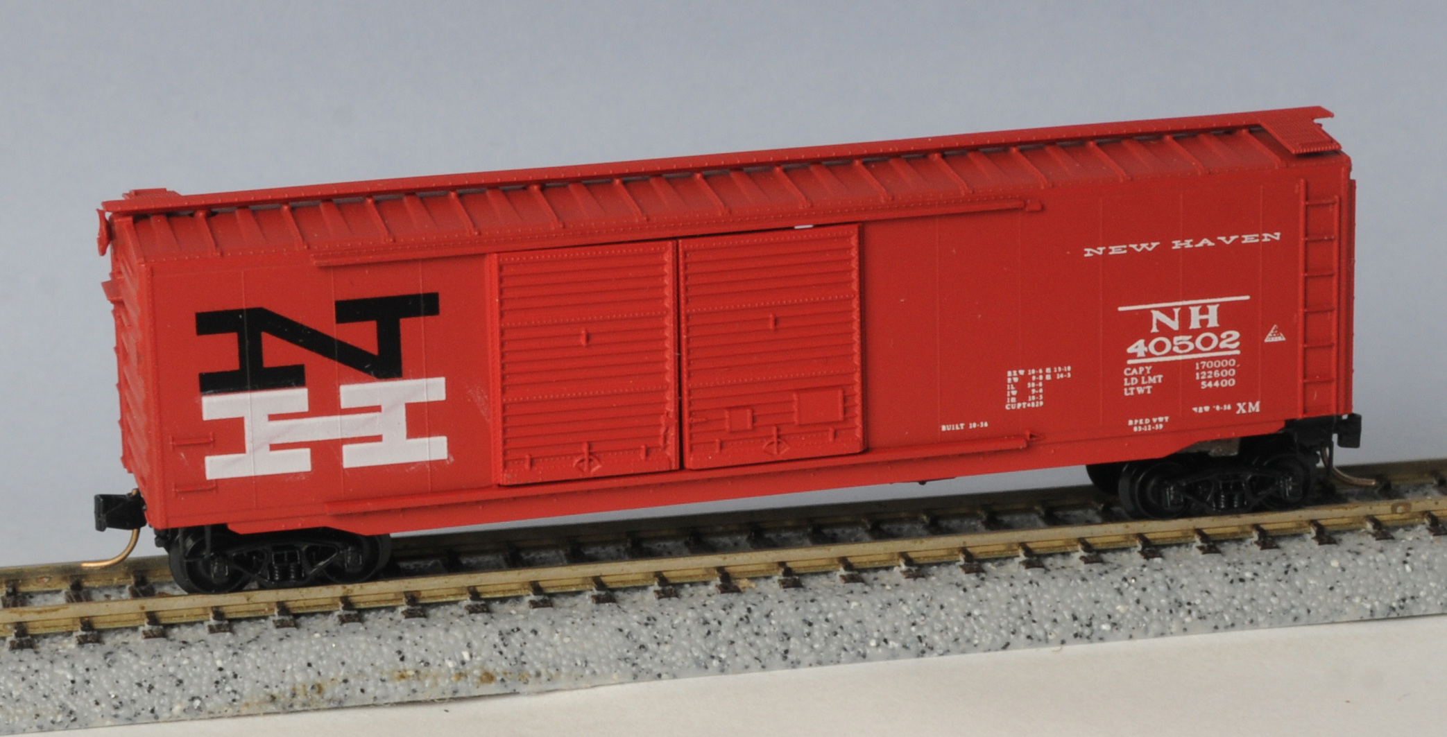N Scale - Eastern Seaboard Models - 201001 - Boxcar, 50 Foot, PS-1 - New Haven - 40502