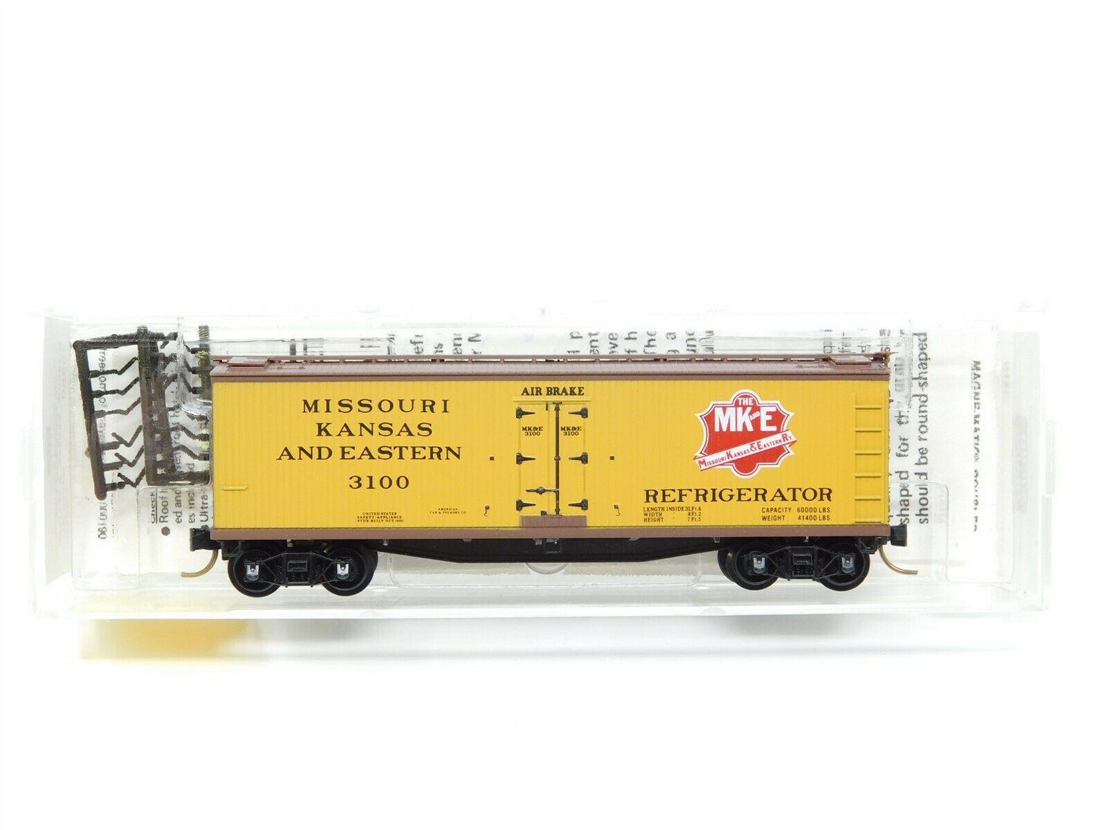 N Scale - Micro-Trains - 49360 - Reefer, Ice, 40 Foot, Wood - Missouri Kansas and Eastern Railway - 3100