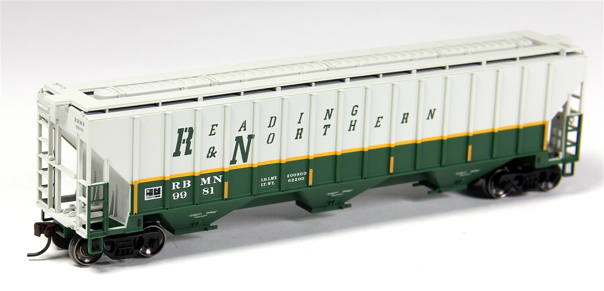 N Scale - Atlas - 50 001 803 - Covered Hopper, 3-Bay, Thrall 4750 - Reading Blue Mountain & Northern - 9994