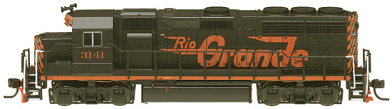 N Scale - Atlas - 48557 - Locomotive, Diesel, EMD GP40 - Rio Grande - 3141