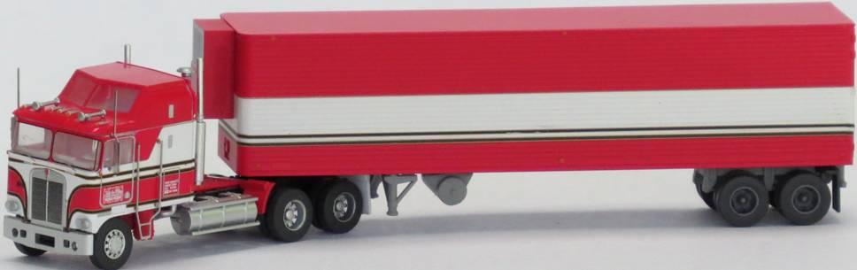 N Scale - Trainworx - 51096 - Truck, Semi Tractor Trailer, Kenworth K100 - Movie Trucks - BJ and the Bear