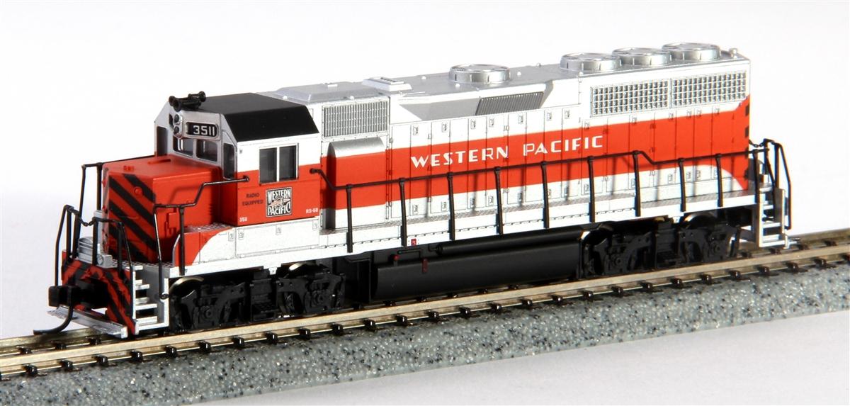 N Scale - Atlas - 48548 - Locomotive, Diesel, EMD GP40 - Western Pacific - 3511