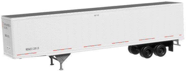 N Scale - Atlas - 50 000 364 - Trailer, Semi, Box Van, 48 Foot, Pines - Transamerica Transportation - 213913