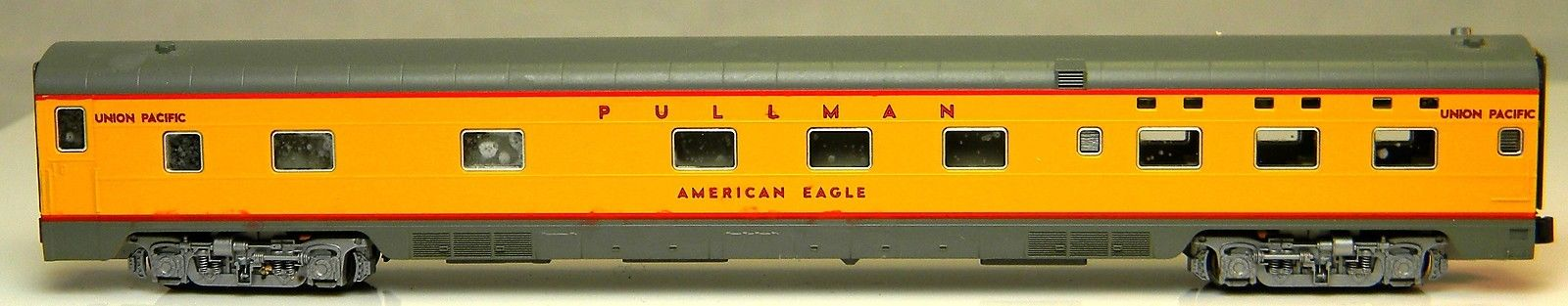 N Scale - Kato USA - 106-5011-C - Passenger Car, Lightweight, Pullman, Sleeper 6-6-4 - Union Pacific - American Eagle