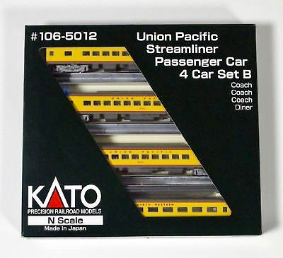 N Scale - Kato USA - 106-5012 - Union Pacific 4-Car Set - Union Pacific - 4-Pack