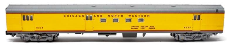 N Scale - Kato USA - 106-5013-A - Passenger Car, Budd, RPO - Union Pacific - 8225