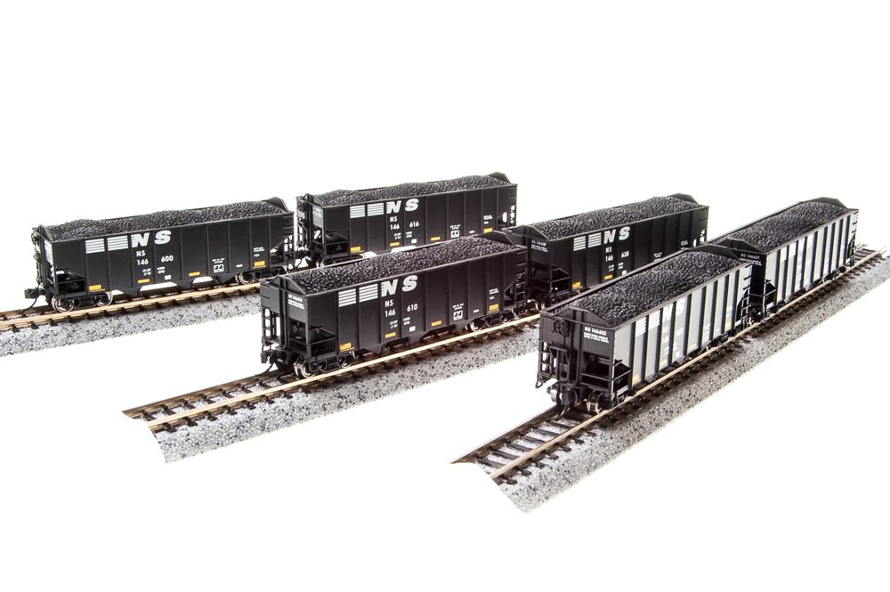 N Scale - Broadway Limited - BLI-3129 - Open Hopper, 3-Bay, H2A - Norfolk Southern