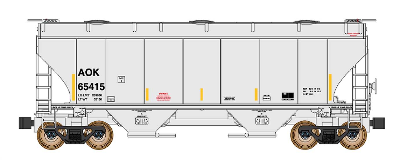 N Scale - InterMountain - 669013-05 - Covered Hopper, 2-Bay, Trinity 3281 - Arkansas-Oklahoma - 65422