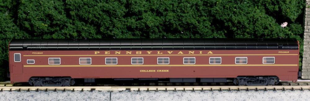 N Scale - Kato USA - 106-068-B - Passenger Car, Pullman, Sleeper 12-4 - Pennsylvania - College Creek