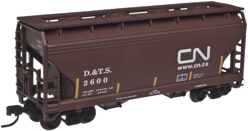 N Scale - Atlas - 50 001 867 - Covered Hopper, 2-Bay, ACF Centerflow - Canadian National - 2600