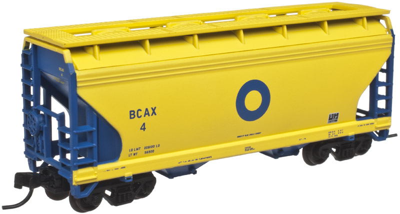 N Scale - Atlas - 50 001 873 - Covered Hopper, 2-Bay, ACF Centerflow - Blue Circle Industries - 4