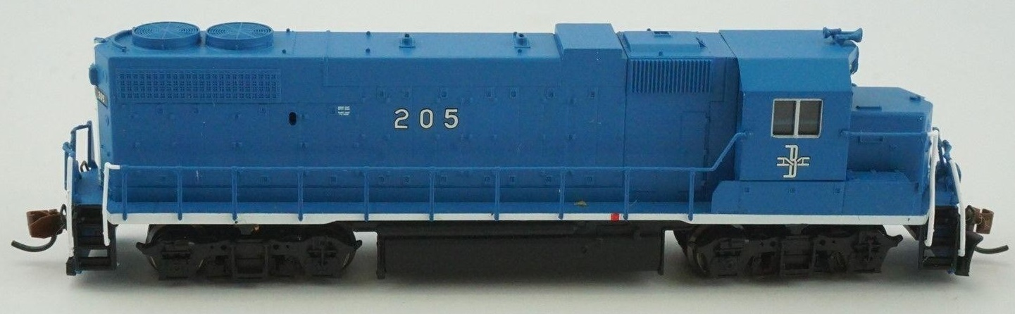 N Scale - Atlas - 47803 - Locomotive, Diesel, EMD GP38-2 - Boston & Maine - 205