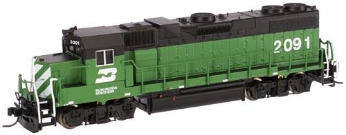 N Scale - Atlas - 47630 - Locomotive, Diesel, EMD GP38-2 - Burlington Northern - 2109