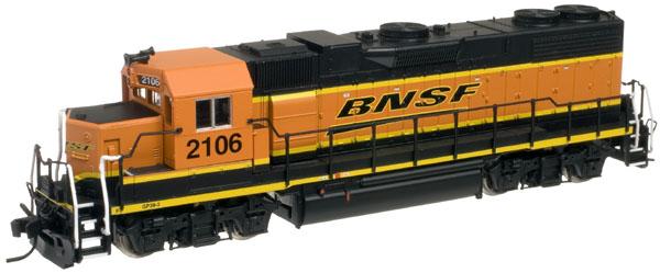 N Scale - Atlas - 47840 - Locomotive, Diesel, EMD GP38-2 - Burlington Northern Santa Fe - 2102