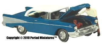 N Scale - Period Miniatures - 3004 - Automobile, Coupe, Chevy, 1957, Bel-Air
