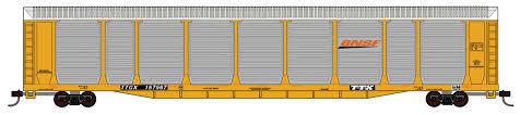 N Scale - Con-Cor - 0001-014768 - Autorack, Enclosed, Bi-Level - Burlington Northern Santa Fe - 157573