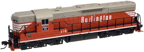 N Scale - Atlas - 53621 - Locomotive, Diesel, EMD SD7 - Burlington Route - 324