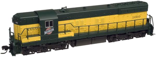 N Scale - Atlas - 53653 - Locomotive, Diesel, EMD SD7 - Chicago & North Western - 1661