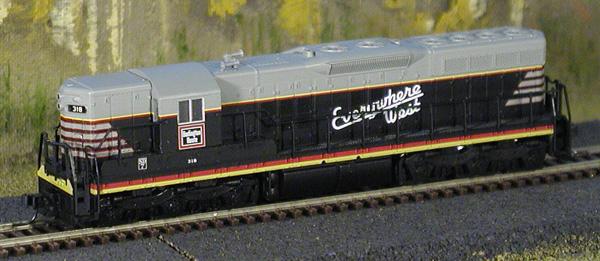 N Scale - Atlas - 53605 - Locomotive, Diesel, EMD SD7 - Burlington Route - 318