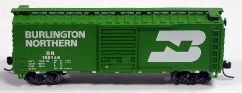 N Scale - Atlas - 34073 - Boxcar, 40 Foot, PS-1 - Burlington Northern - 189149