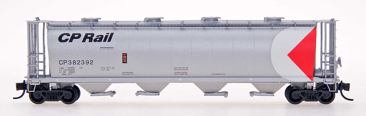 N Scale - InterMountain - 65221-17 - Covered Hopper, 4-Bay, Cylindrical - Canadian Pacific - 382379