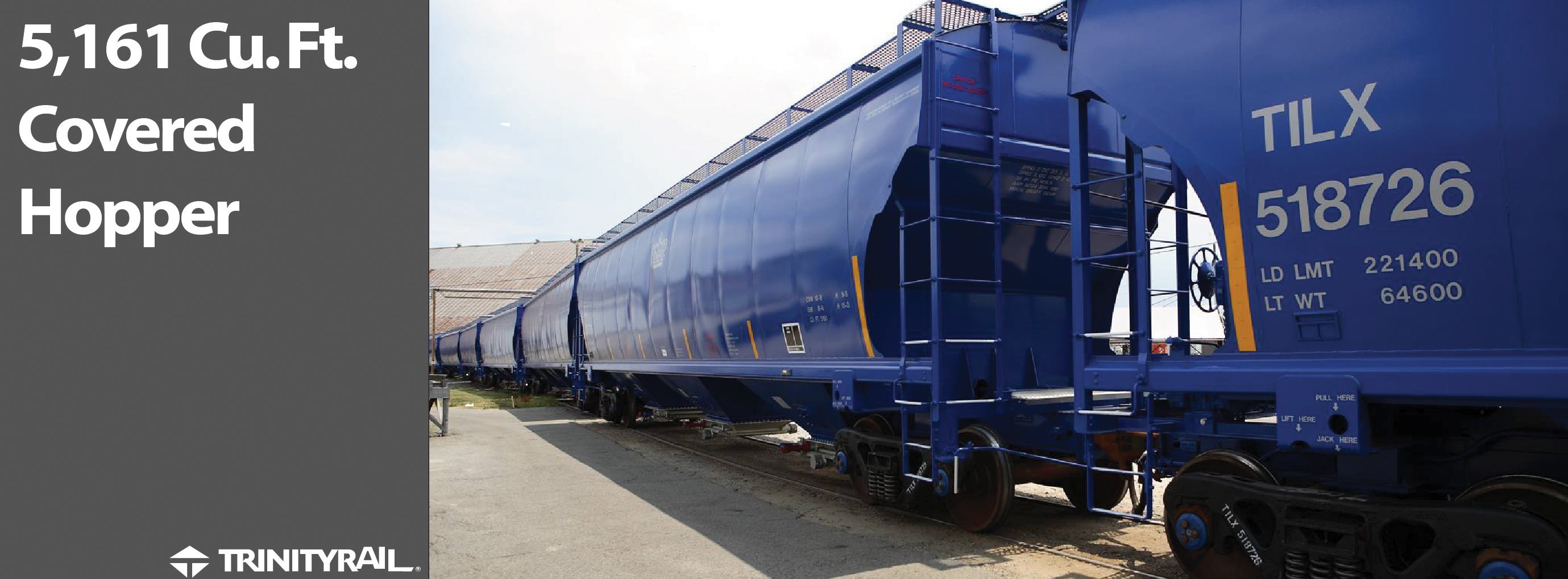 Rail - Rolling Stock (Freight) - Covered Hopper - 3-Bay Trinity 5161