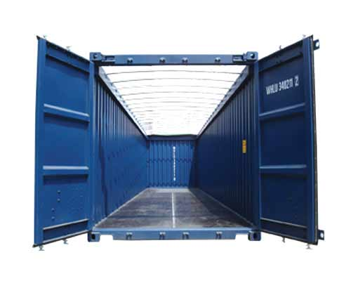 Vehicle - Intermodal - Container - 40 Foot - Corrugated, Open Top