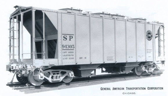 Rail - Rolling Stock (Freight) - Covered Hopper - 2-Bay ACF 36 Foot