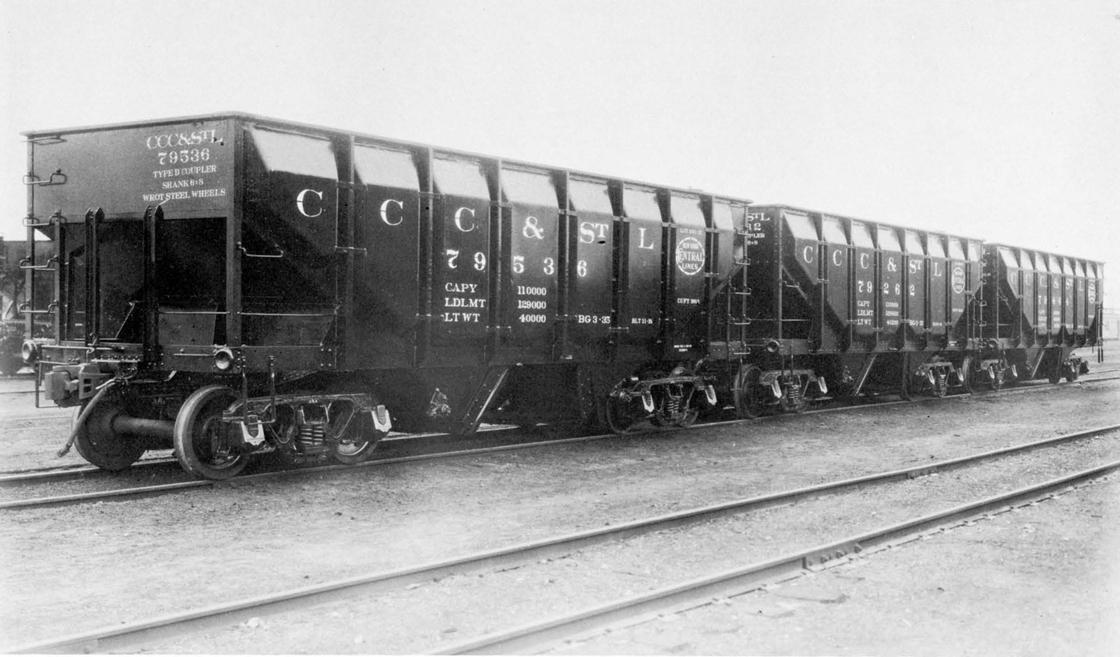 Vehicle - Rail - Rolling Stock (Freight) - Open Hopper - 2-Bay 55 Ton Rebuilt Panel Side