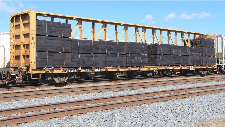 Rail - Rolling Stock (Freight) - Flatcar - 73 Foot, Centerbeam