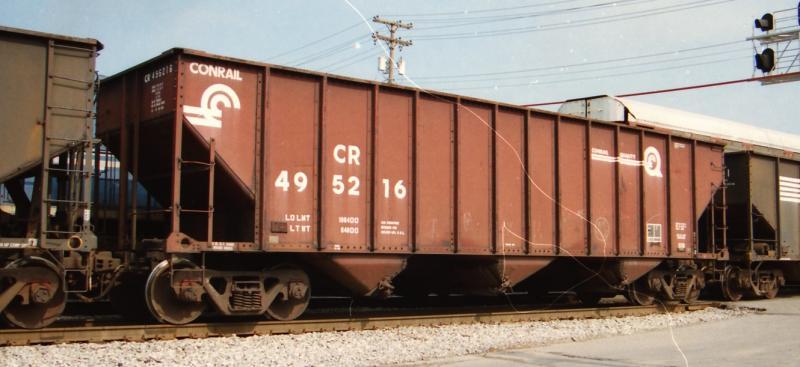 Rail - Rolling Stock (Freight) - Open Hopper - 3-Bay 100 Ton